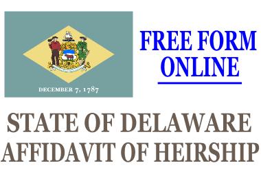 Affidavit of Heirship Delaware