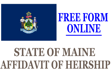 Affidavit of Heirship Maine