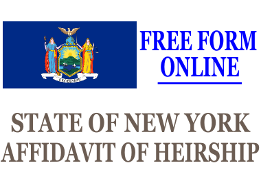 Affidavit of Heirship New York