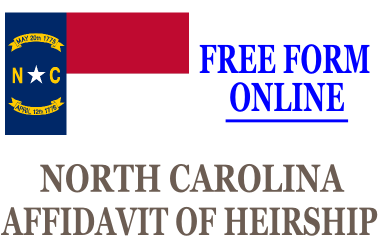 Affidavit of Heirship North Carolina