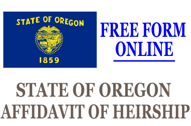 Affidavit of Heirship Oregon