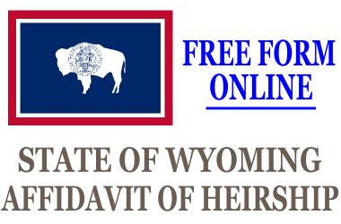 Affidavit of Heirship Wyoming