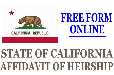 Affidavit of Heirship California
