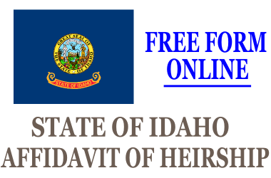 Affidavit of Heirship Idaho