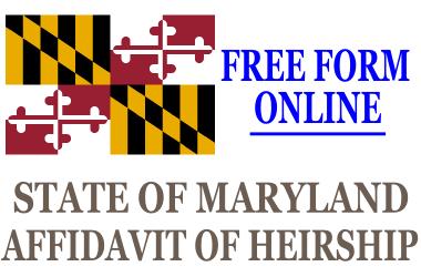 Affidavit of Heirship Maryland